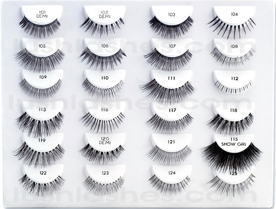 70197a33f80 False Eyelashes styles range from style 101 to 134