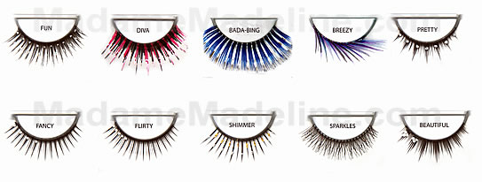 Wild False Eyelashes comes in many glittering and fun wearing styles which silver glitters and rhinestones.