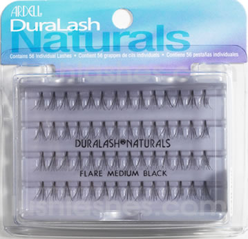 false eyelashes in knotless clusters. Each pack can last for 4 to 7 days.